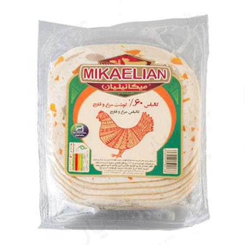 کالباس 60% گوشت مرغ و قارچ وکیوم 250 گرمی میکائیلیان